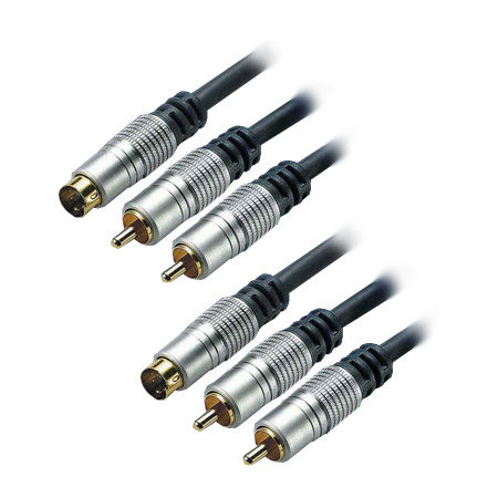 Ht cablu 2rca & svhs - 2rca & svhs 5m