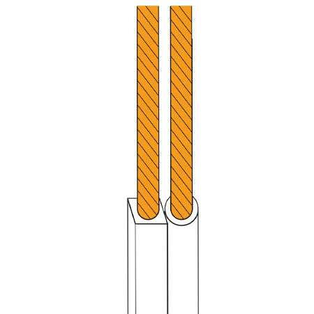 Cablu difuzor 2x0.75 alb rola 5m edc