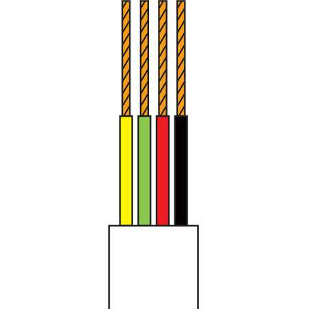 Cablu telefonic 4 fire negru rola 10m edc