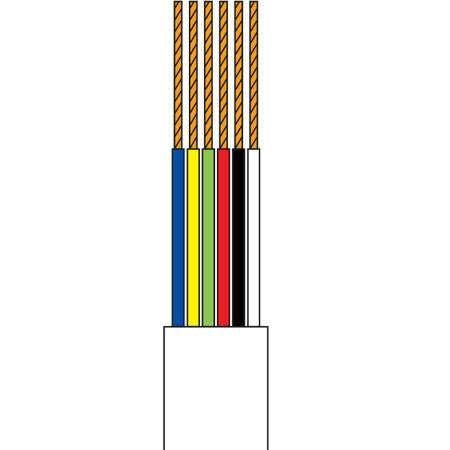 Cablu telefonic 6 fire alb rola 10m edc