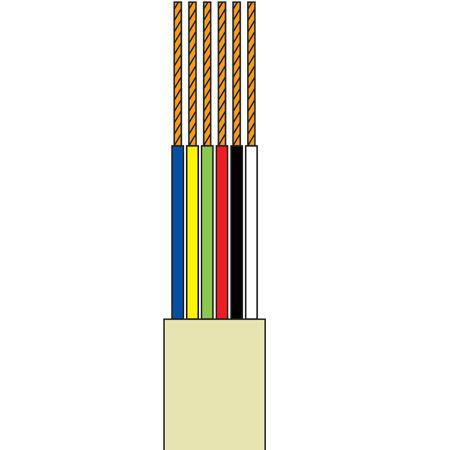 Cablu tel.plat 6 fire gri - 100m
