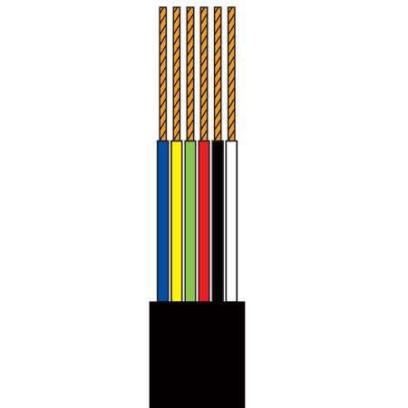 Cablu telefonic 6 fire negru rola 10m edc