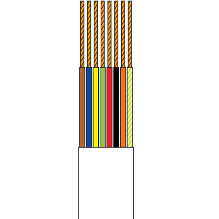Cablu tel.plat 8 fire alb tambur - 100m