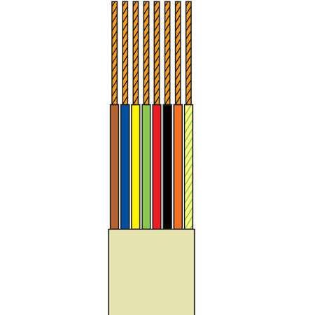 Cablu telefonic 8 fire crem rola 50m edc
