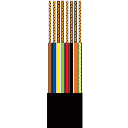 Cablu tel.plat 8 fire negru tambur - 100m