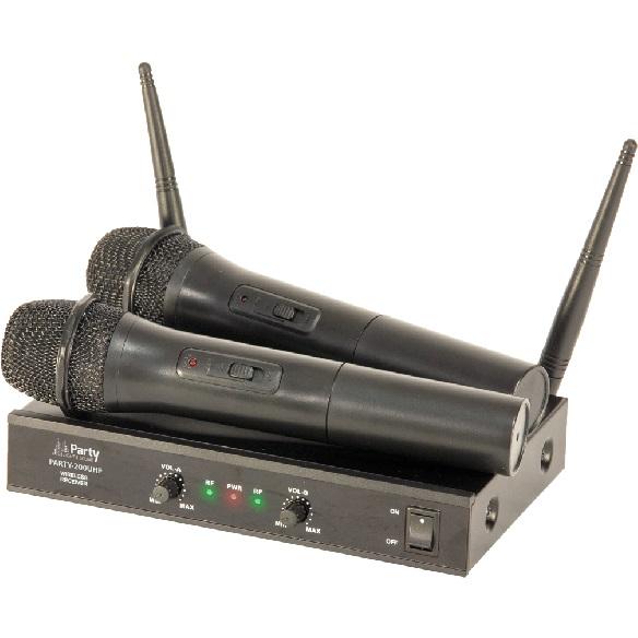 Set 2 microfoane wireless uhf 863.2 & 864.2 mhz
