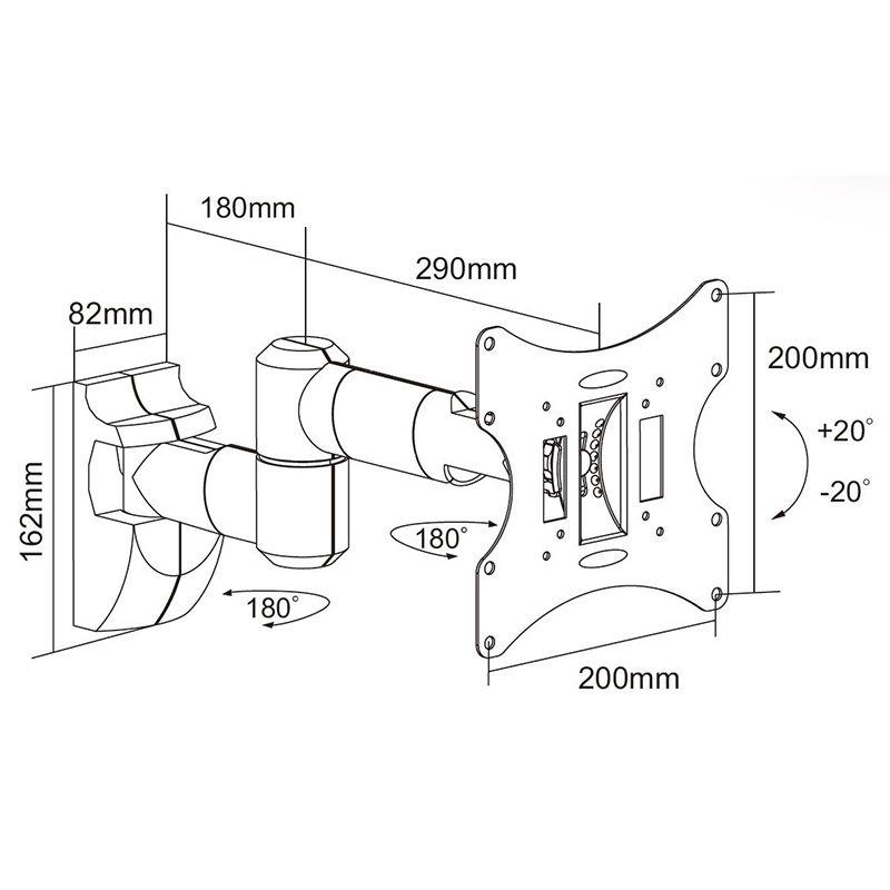 Suport lcd 10 - 30 inch 30 kg negru