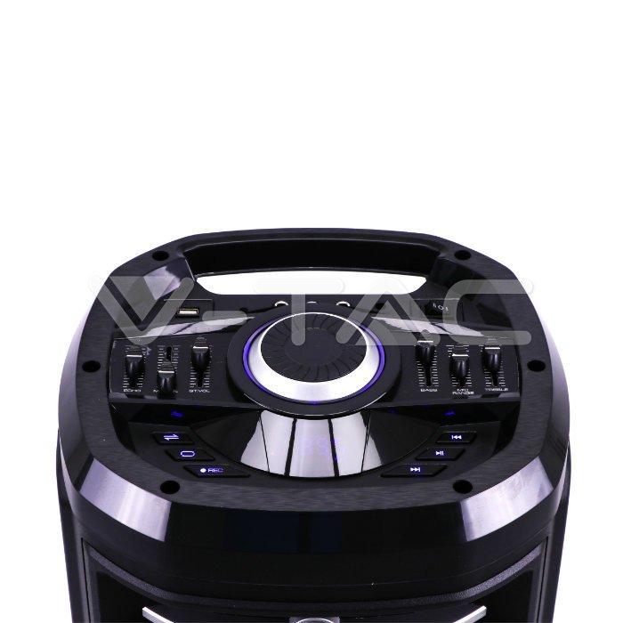 Boxa portabila 2x10 inch/25cm iluminata 120wrms usb/sd/bt/fm/aux