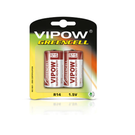 Baterie greencell r14 blister 2 buc