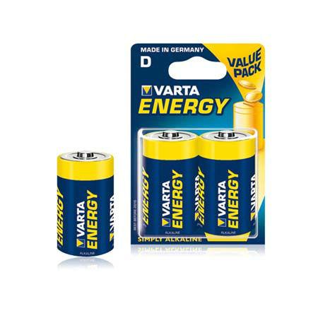 Baterie alcalina lr20 blister 2 buc varta ene