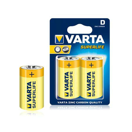 Baterie r20 blister 2 buc varta superlife