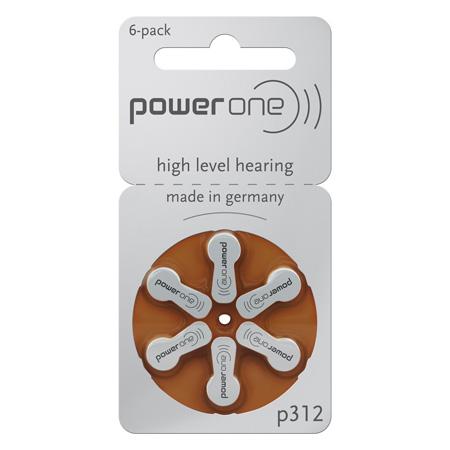 Set baterii auditive p312 power one varta 6bu