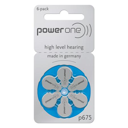 Set baterii auditive power one varta p675 6b