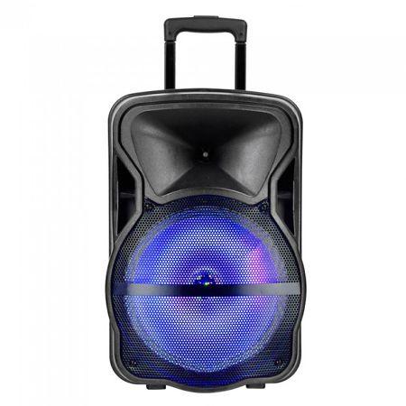 Boxa portabila iluminata led 12 inch/30cm 35w rms cu usb/sd/bt/fm